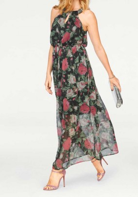 Maxi dress, black-multicolour