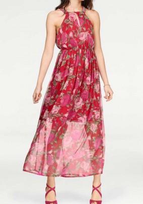 Ilga raudona VERO MODA suknelė