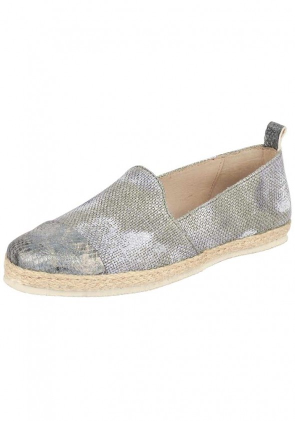 Slipper, beige-gray-light blue