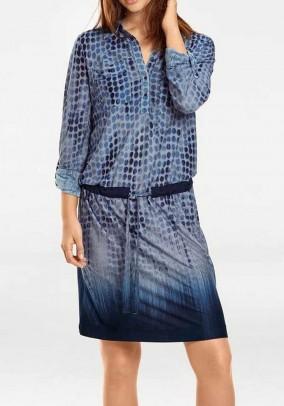 Jersey dress, blue patterned