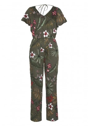 Jumpsuit, khaki-multicolour