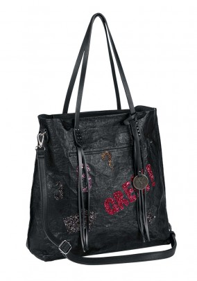 Bag with patches, black