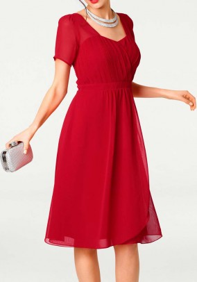 """Raudona kokteilinė suknelė """"Poli"""". Liko 42 dydis"""