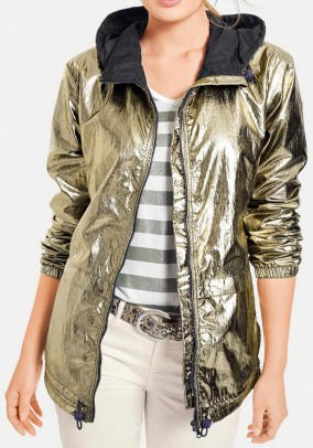 Jacket with hood, gold coloured