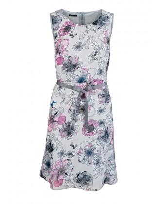 Chiffon dress, grey-pink