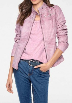 Lamb nappa leather jacket