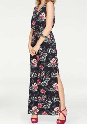 Maxi dress, dark blue - multicolour