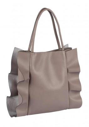 Bag with flounces, mauve