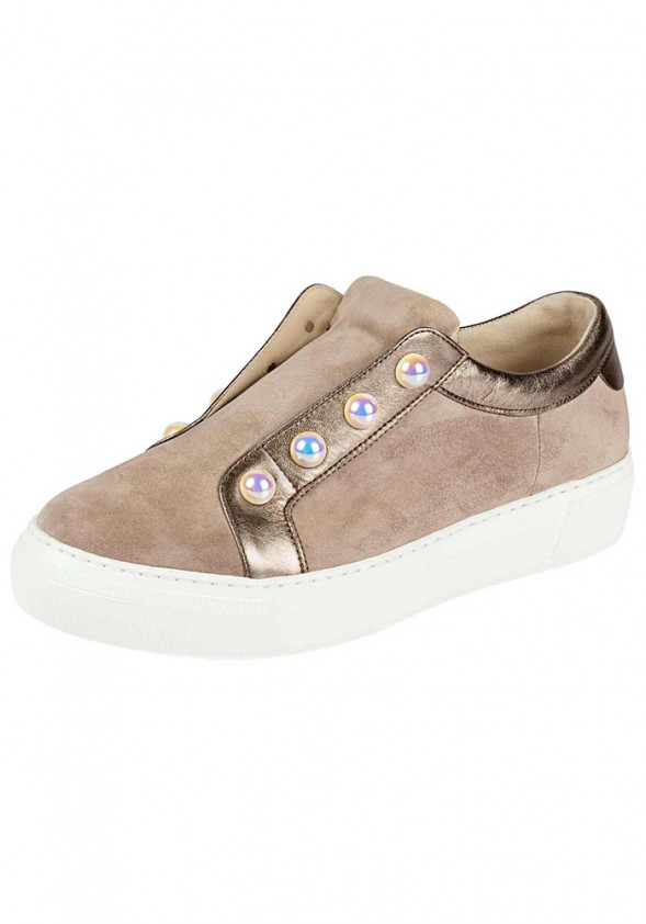 Velours sneaker, taupe