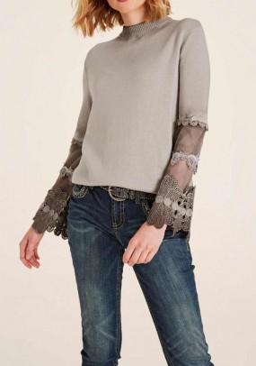 Originalus rudas megztinis
