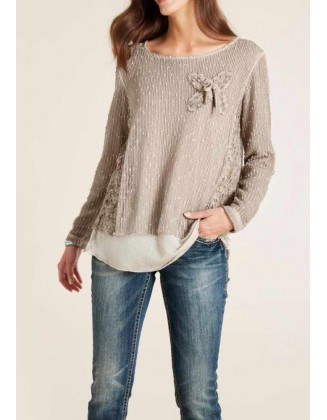 Two in one shirt, taupe