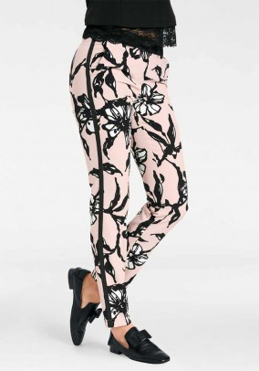 Print trousers, black