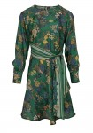 Žalia satino suknelė