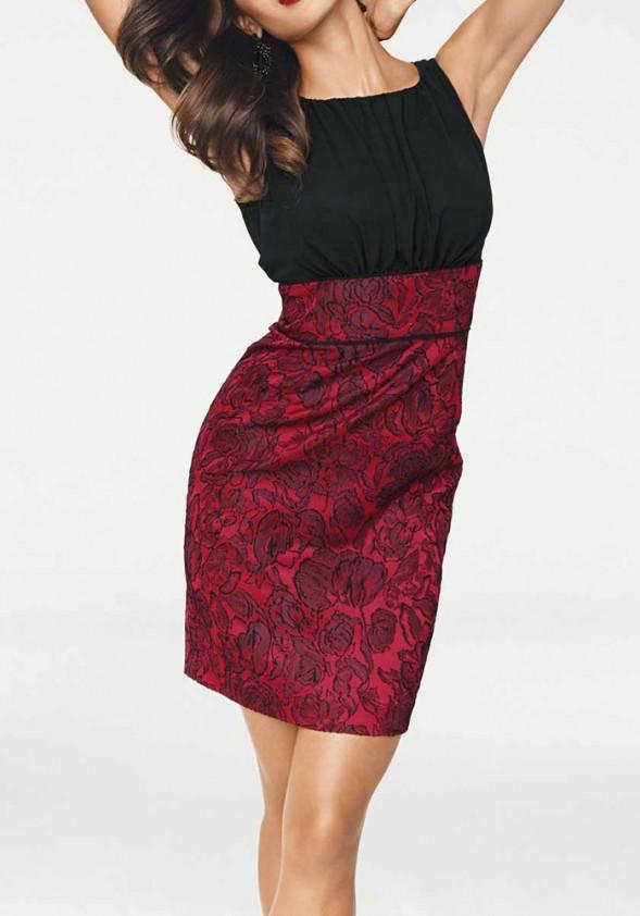 """Raudona kokteilinė suknelė """"Twist"""""""