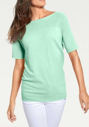 Sweater with cashmere, mint