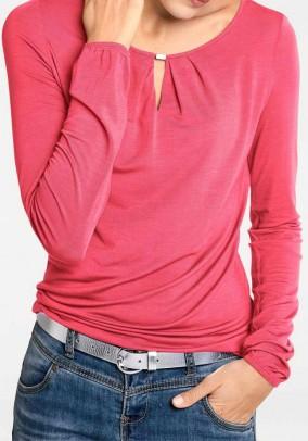 Blouse shirt, coral