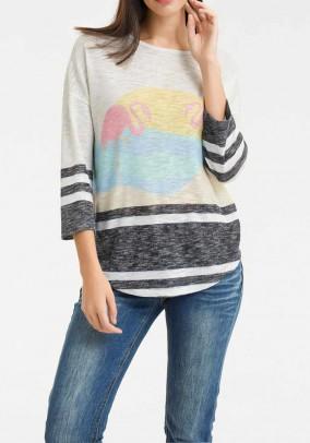 Print shirt, nature-multicolour