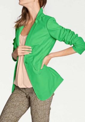 Leather blazer, green