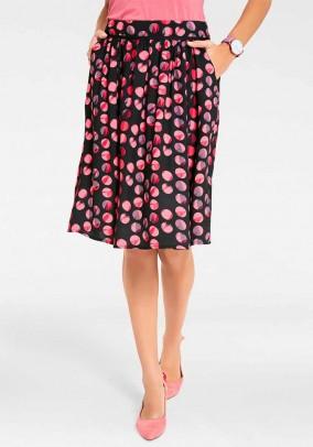 Print skirt, black-lobster