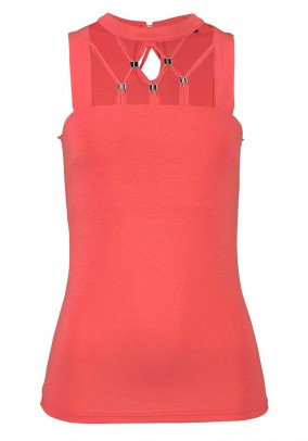 Jersey top, coral