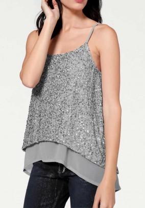 Top with sequins, grey