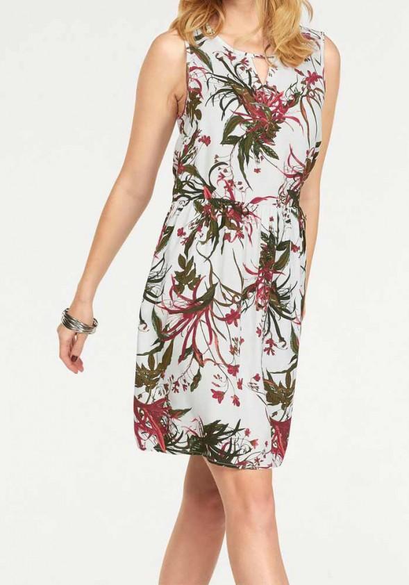 Vero Moda suknelė su augalų motyvais