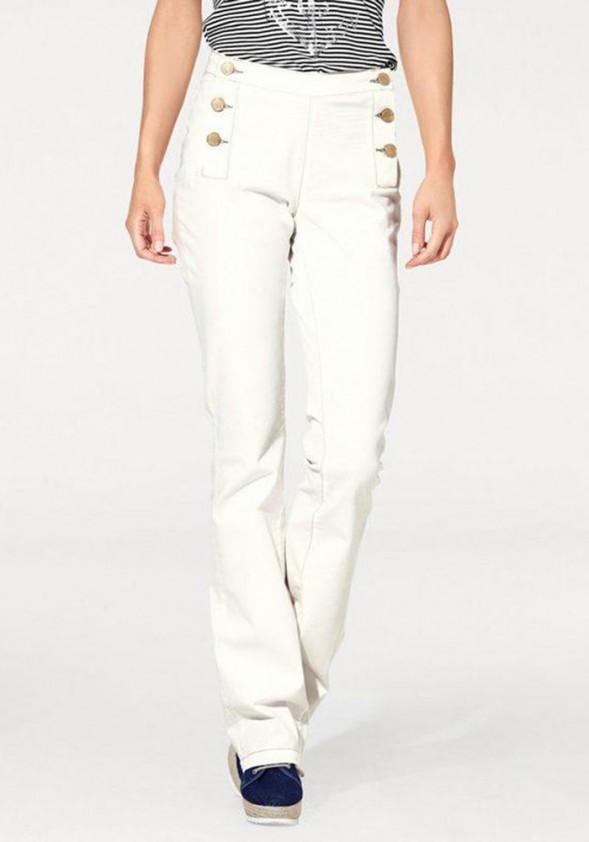 Šviesios džinsinės kelnės