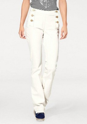 Denim trousers, cream