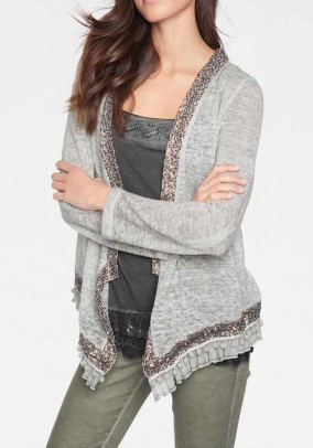 Jacket with sequins, grey