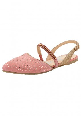 Sling ballerina shoe with strass