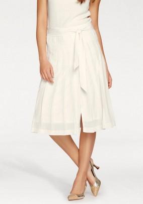 Pleat skirt, ecru