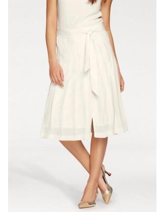 Midi ilgio klostuotas sijonas