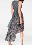 Chiffon dress, grey-mallow