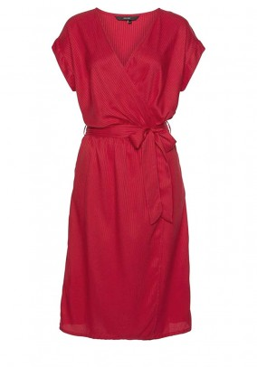 Wrap dress, red