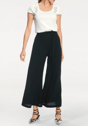 Cropped trouser, black