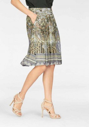 Silk skirt, multicolour