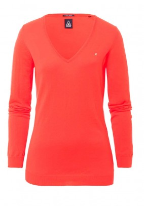 Sweatshirt, neon orange