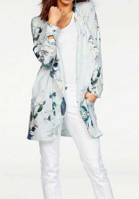 Coat, grey-multicolour