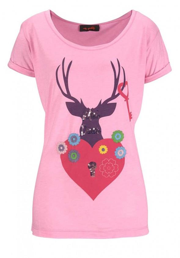Rožiniai Miss Goodlife marškinėliai