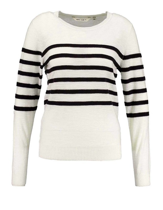 Baltas lininis GARCIA megztinis