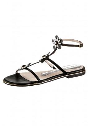 Leather sandal, black