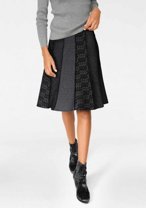 Patch skirt, grey