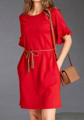 Jersey dress, red