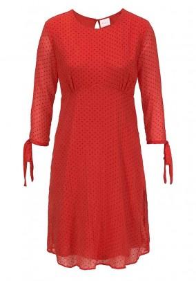 Chiffon dress, red