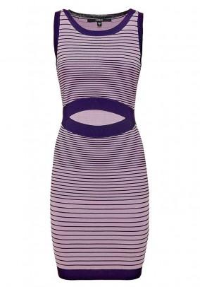 Knit dress, lavender-purple