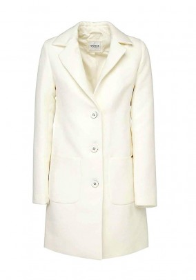 Brand coat, wool white