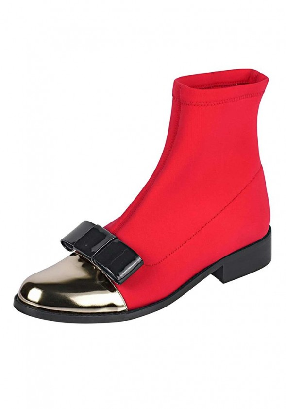 Stretch bootie, red-gold colour
