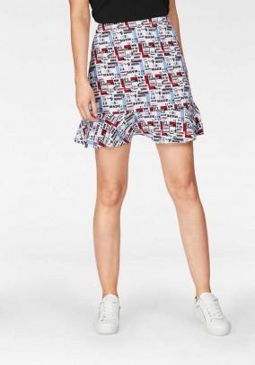 Flounce skirt, multicolour