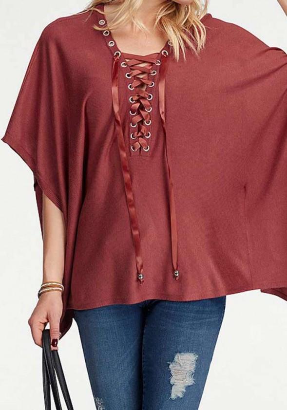 Cape sweater, wine red
