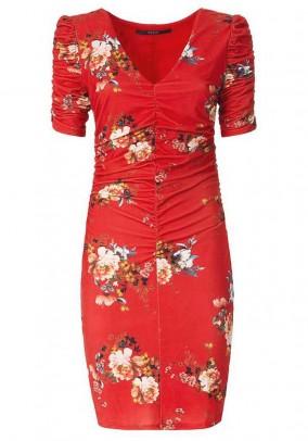 Print dress, red
